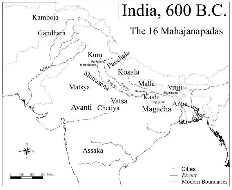 Bharat ka Naksha - 600BC