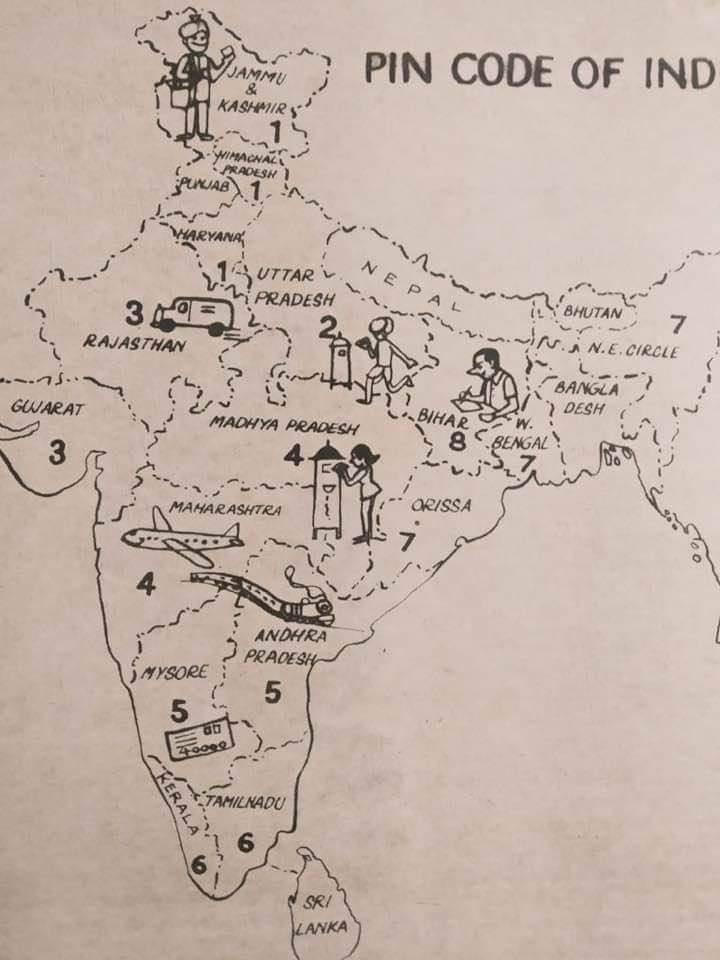 Bharat ka Naksha with PIN code