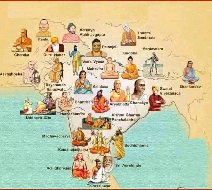 Bharat ka Naksha with Sants Location